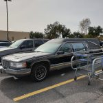 hearse outside walmart